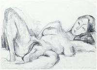 liegender weiblicher akt by siegfried klotz
