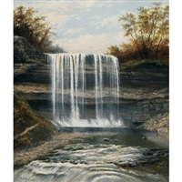 the waterfall in erindale, ont by henry nesbitt mcevoy