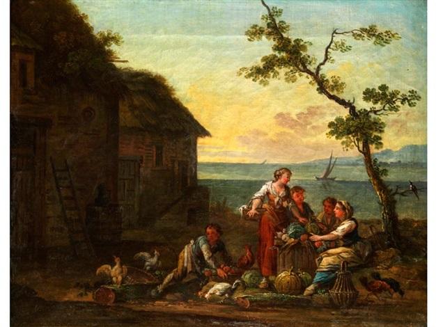ländliche figurengruppe by jean baptiste charles claudot