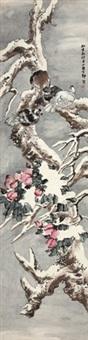 玉树花鸟 立轴 纸本 by liu bin