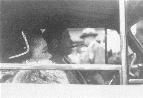 untitled couple in car by leon levinstein