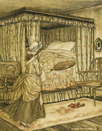 the maid and the warming pan by arthur rackham