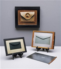 selection of three envelopes (3 works), various sizes- by andrew bush