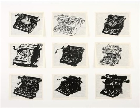nine typewriters 9 works by william kentridge