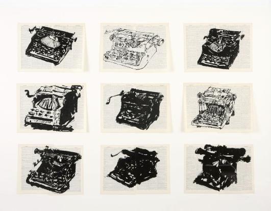 nine typewriters 9 works by william kentridge