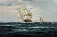 a clipper at sea by david roy macgregor