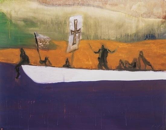 canoe by peter doig