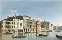 ansicht des canal grande in venedig by francesco tironi