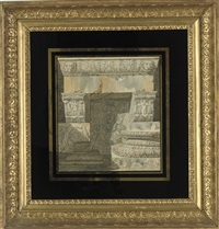 architectural fragments from antiquity (study) by charles percier