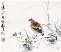 花鸟 镜片 纸本 by wang xuetao
