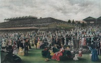 the lawn at flemington on melbourne cup day by carl kahler