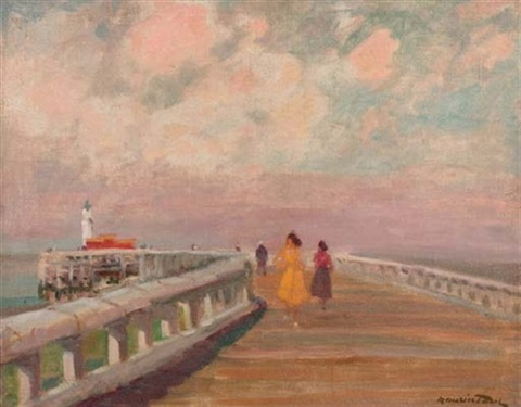 taking a stroll down the pier by maurice paul