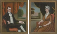 portrait of mr.nathaniel ruggles (+ portrait of mrs martha ruggles; pair) by ralph eleaser whiteside earl