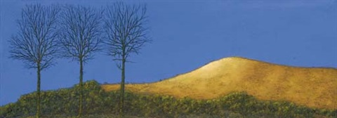 evening light on the yellow hill by maurice quillinan