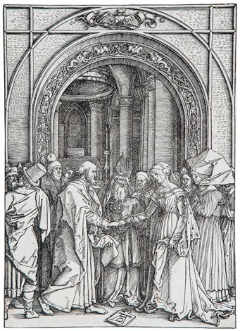 the marriage of the virgin by albrecht dürer