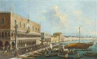a view of the molo, venice by italian school-venetian (19)