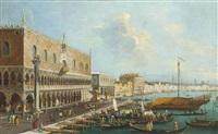 a view of the molo, venice by italian school-venetian (19)
