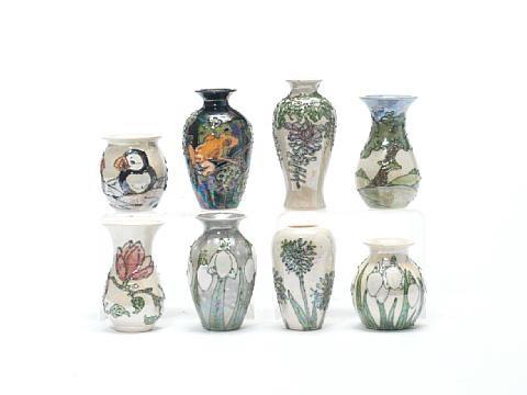Tree Frogs Vase Puffins Vase 2 Pieces By Lise B Moorcroft On Artnet