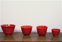 untitled (set of four vessels) by mary heilmann