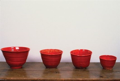 untitled set of four vessels by mary heilmann