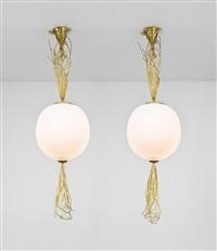 coppia di lampade a sospensione marsili by roberto giulio rida