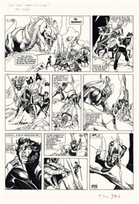 jason drum - return of the warrior, planche 6 (for journal tintin) by gil kane