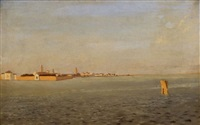 venise : vue de l'isola san michele by jean baptiste van moer