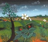 landschaft mit erdbeerpflanzen by franjo filipovic