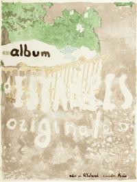 projet de couverture pour un album d'estampes by edouard vuillard