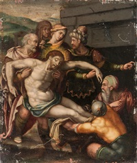 entombment of christ by anonymous-italian