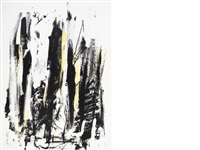 composition in black and yellow (from trees) by joan mitchell