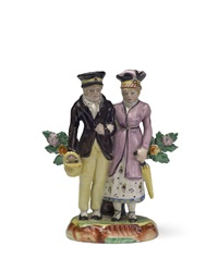 pair of dandies by staffordshire
