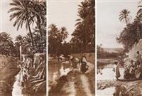 afrique du nord. palmeraies. bou saâda. trois by lehnert & landrock