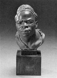 the sorcerer, a bust by herbert ward