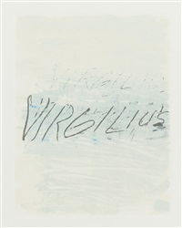 six latin writers and poets appollodoro; and six latin writers and poets virgilus; 2 works) by cy twombly