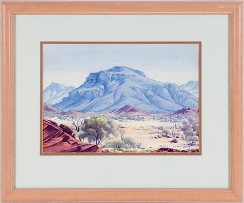 untitled landscape in the flinders ranges by albert namatjira
