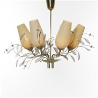 chandelier, model 9029 by paavo tynell