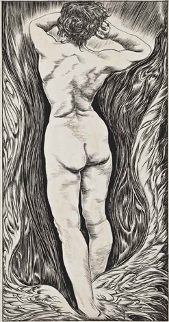 nude rising from the waves by austin osman spare