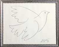 blue dove by pablo picasso