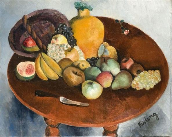 nature morte aux fruits by moïse kisling