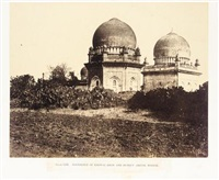 mausoleum of khawas khan & huzrut abdool ruzzak, pl.lxx (from architecture at dhawar and mysore) by thomas biggs
