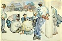 resting workers by saul raskin