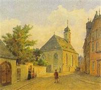 die alte peterskirche zu frankfurt by friedrich eugen peipers