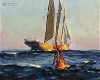 schooner and buoy by macivor reddie