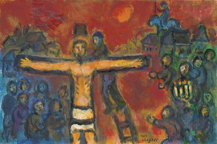 Le Christ En Croix By Marc Chagall On Artnet