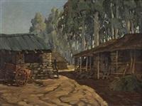 farmyard scene by nils severin andersen