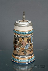 one-half litre bowling stein by mettlach
