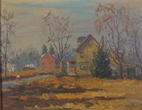 street scene in autumn by hugh h. campbell