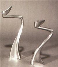 kerzenleuchter arclumis (pair, different sizes) by matthew hilton