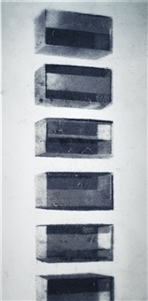 donald judd (pictures of dust) by vik muniz